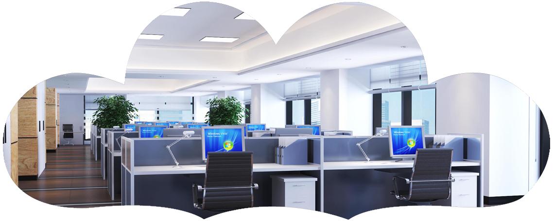一个时尚现代的办公环境