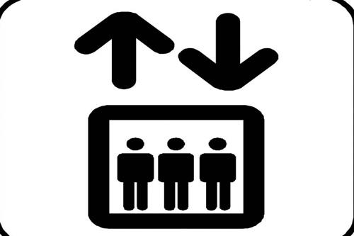 电梯演讲 矢量图